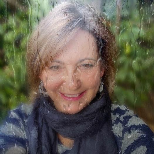 Debbie on a rainy day