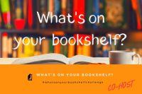 What's on your bookshelf co-host badge