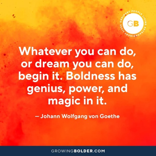 bold quote from Johann Wolfgang von Goethe