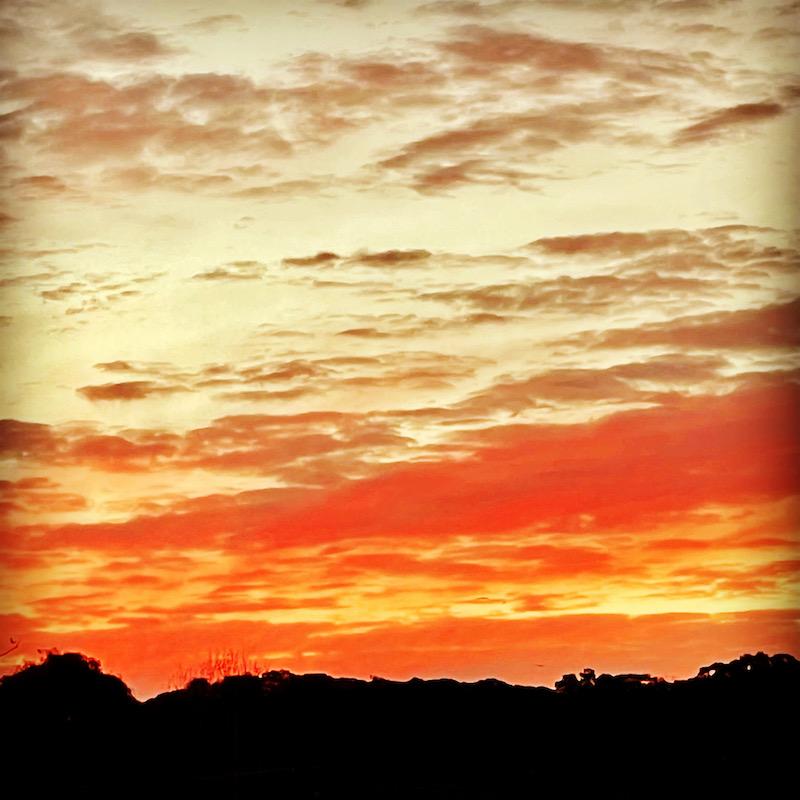 painted sunset sky